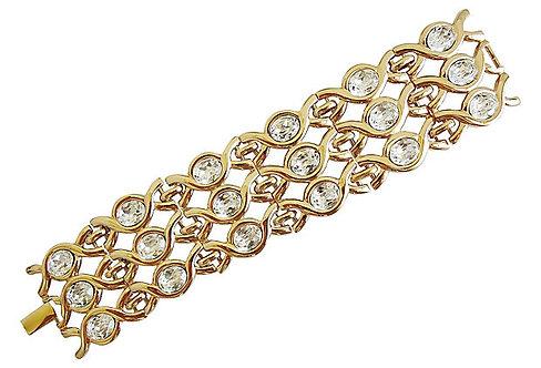 Napier Limited Edition Rhinestone Bracelet, 1990