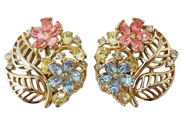 Trifari Fragonard Earrings, 1954