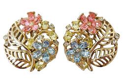 Trifari Fragonard Earrings, 1954