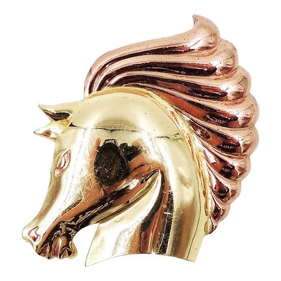 1940s Monet Book Piece Horse Head Brooch