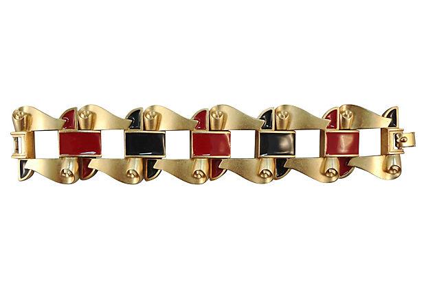 1980s Monet Enamel Bracelet