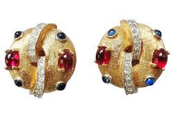 1960s Jomaz Cabochon Earrings