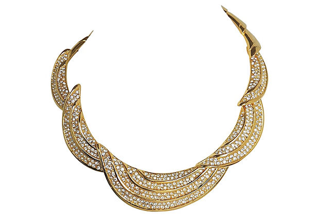 Napier Pave Necklace, 1988