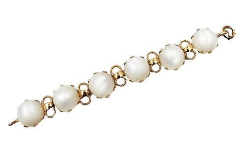 1950s Napier Faux-Moonstone Bracelet