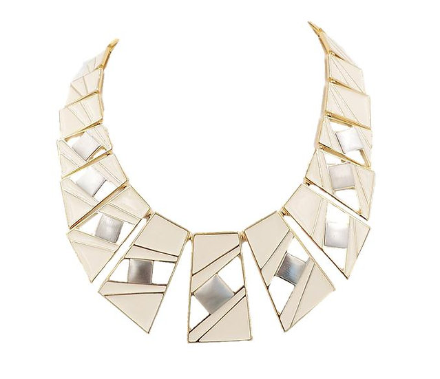 Trifari Enamel Modernist Necklace, 1987