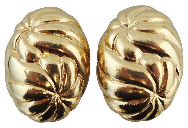 1980s Jacky de G Sunburst Earrings