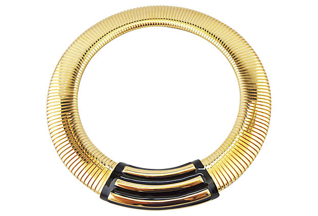 1980s Monet Modernist Enamel Collar