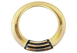 1980s Monet Modernist Enamel Collar