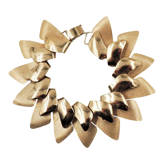 1950s Napier Modernist Goldtone Bracelet