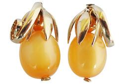 Napier Cumquat Earrings 1955