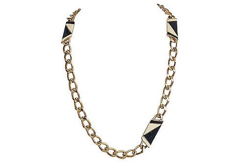 1980s Monet Enamel Sautoir Necklace