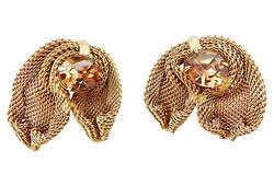 1950s Napier Faux-Topaz Earrings