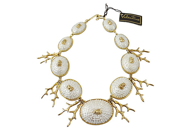 1980s Valentino Faux-Shell Necklace