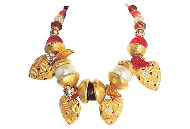 1990s Ferrandis Heart Charm Necklace