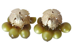 1950s Napier Moonglow Grape Earrings