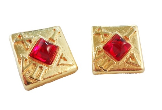 Early 1990s Escada Clock Earrings