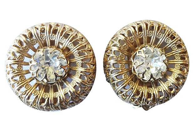 1950s Napier Rhinestone Earrings