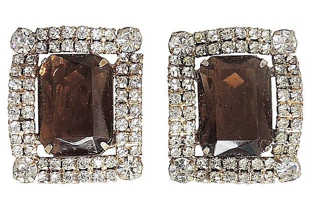 Delizza & Elster Juliana Faux-Topaz Rhinestone Earrings