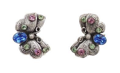 c1955 Napier Butterfly Earrings