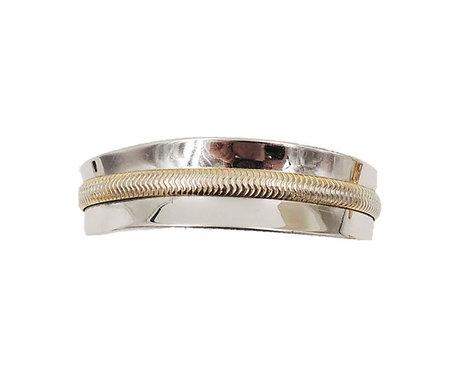 Napier Rhodium Plated Goldtone Cuff Bracelet, 1975