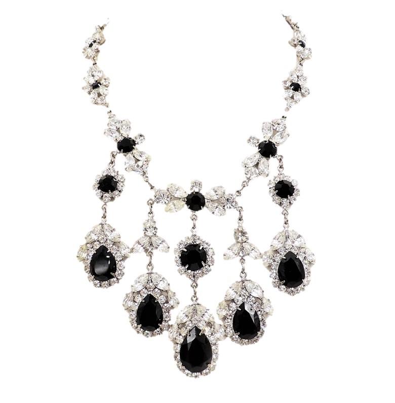 Marie Ferra Rhinestone Bib Necklace