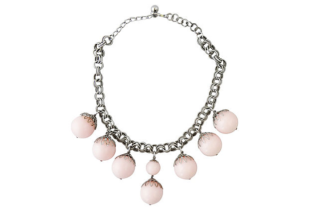 1950s Napier Pink Lucite Necklace