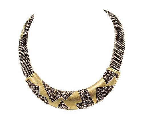 1980s Monet Modernist Zig Zag Necklace