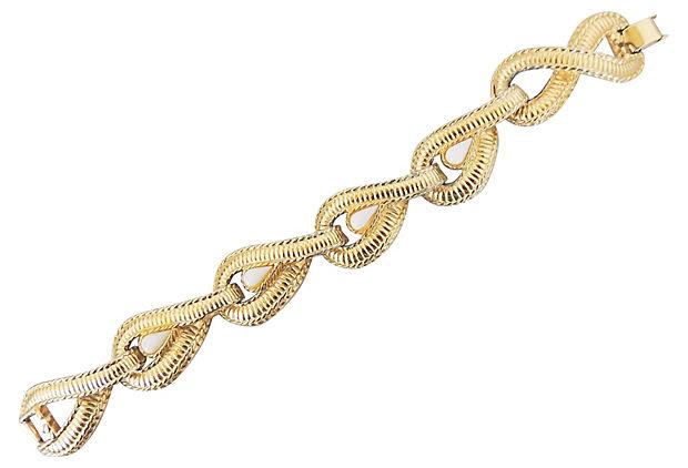 1980s Givenchy White Cabochon Bracelet