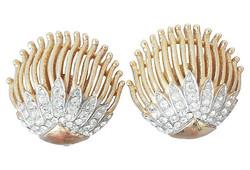 Trifari Earrings, Vogue 1964