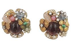 Late 1940s Miriam Haskell Earrings