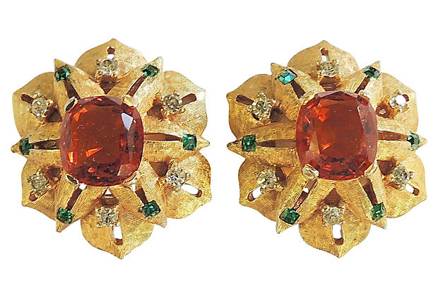 Jomaz Earrings, 1960