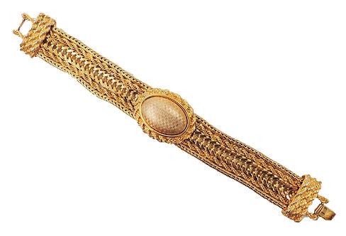 1980s Monet Checkered Bracelet
