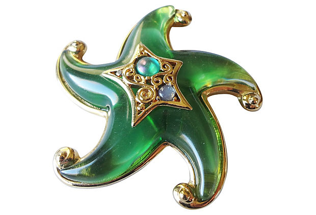 1990s Trifari Starfish Pin