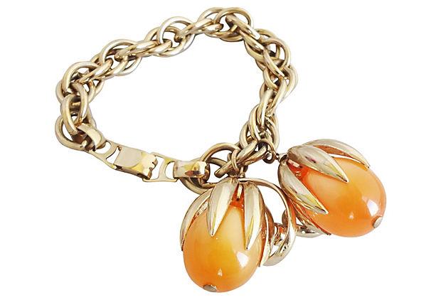 Napier Cumquat Bracelet, 1955