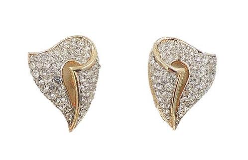 1960s Trifari Pavé Rhinestone Earrings