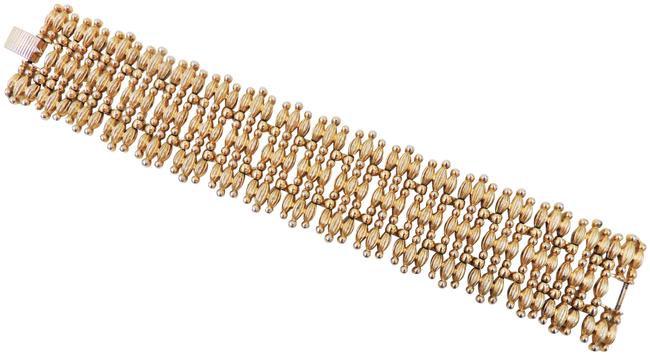 "Monet Goldtone ""Minaret"" Bracelet, 1956 Book Piece"