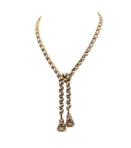 Trifari Lariat Tassel Necklace, 1950