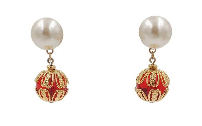 Circa 1990 Napier Faux-Pearl Earrings
