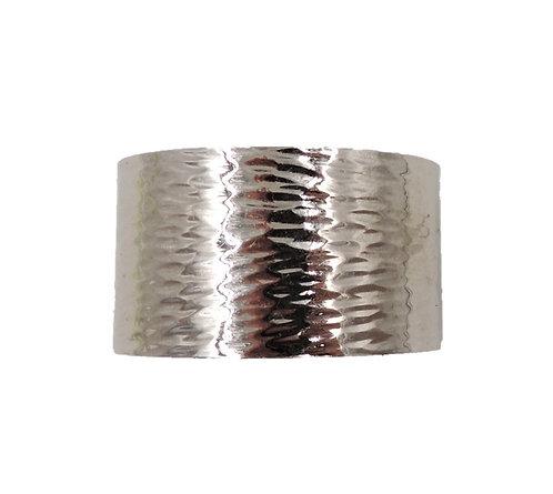 Napier Rhodium Plate Cuff Bracelet, c 1976