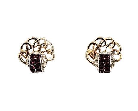 Boucher Faux-Amethyst Earrings, c1950
