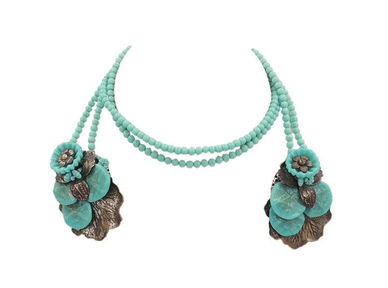 1930s Miriam Haskell Lariat Necklace