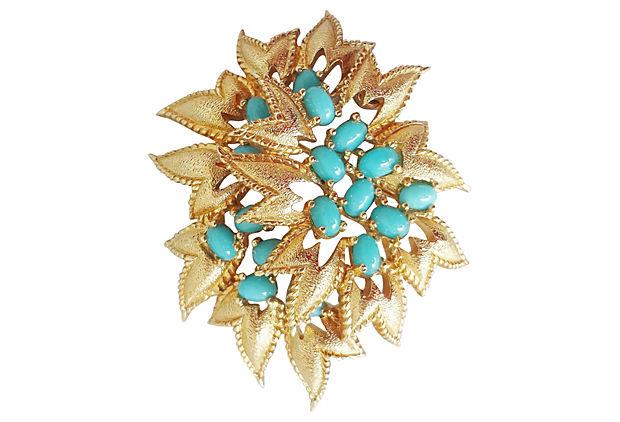 1960s Jomaz Cabochon Pin