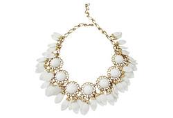 1950s Napier White Lucite Necklace