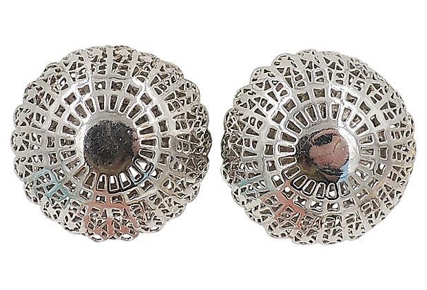 Trifari Mandalay Earrings, 1955