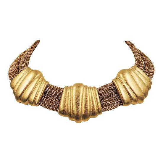 Monet Goldtone Collar Necklace, 1984 Ad Piece