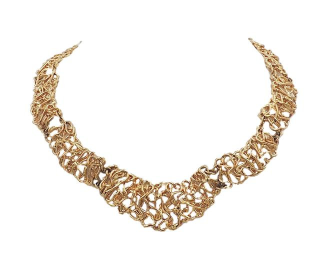 Napier Golden Tangles Necklace