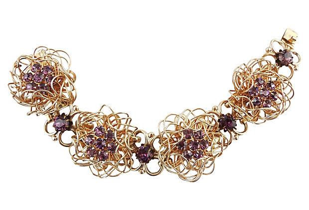 1960s Napier Flower Bracelet
