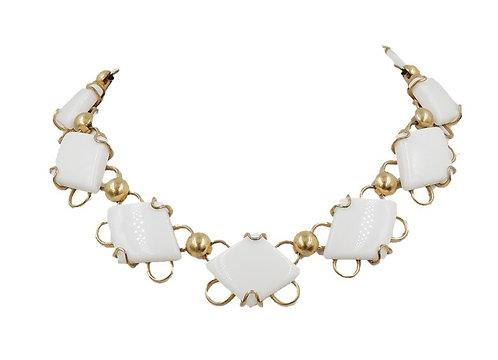 1950s Napier White Resin Necklace
