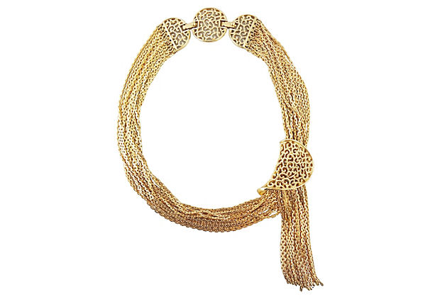 c1964 Monet Tassel Necklace
