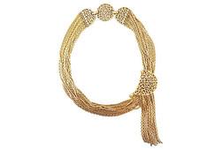 c1964 Monet Tassel Necklace